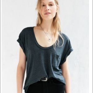 Urban outfitters scoopneck slouch pocket tee
